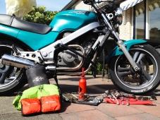 waterproof stuffbags, raincovers, stuff for camping, cooking, crashing and repairing