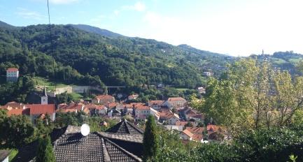 The view from the balcony of my wonderful hosts in Krapina. Such an interesting little town.