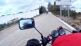Arriving at Pamukkale, Turkey
