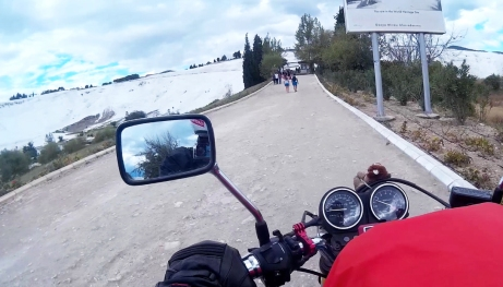 Arriving at Pamukkale, Turkey